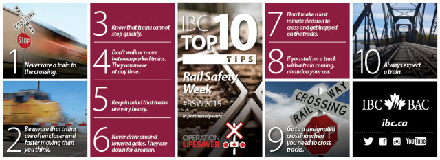 IBC Top 10 Rail Safety Tips
