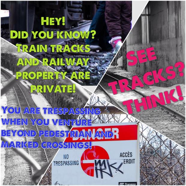 Trespassing on train tracks can be deadly