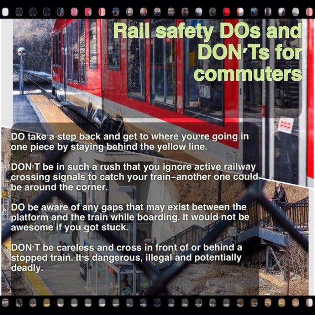 Rail Safety DOs and DON'Ts for commuters