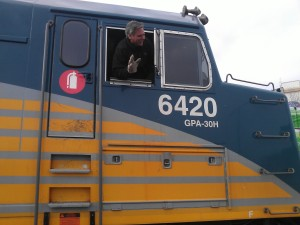 Steve, on his last trip of his railway career, March 27, 2015.