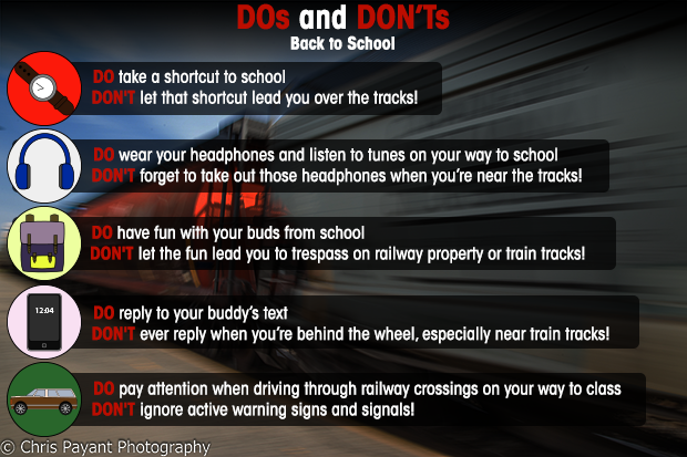 Back to school rail safety
