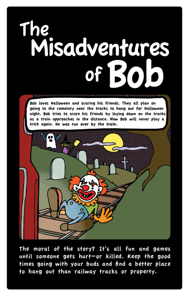 Misadventures of Bob - Halloween rail safety
