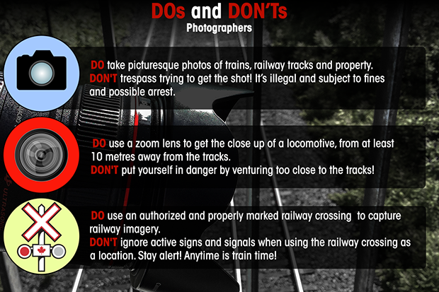 Rail safety dos and don'ts for photographers