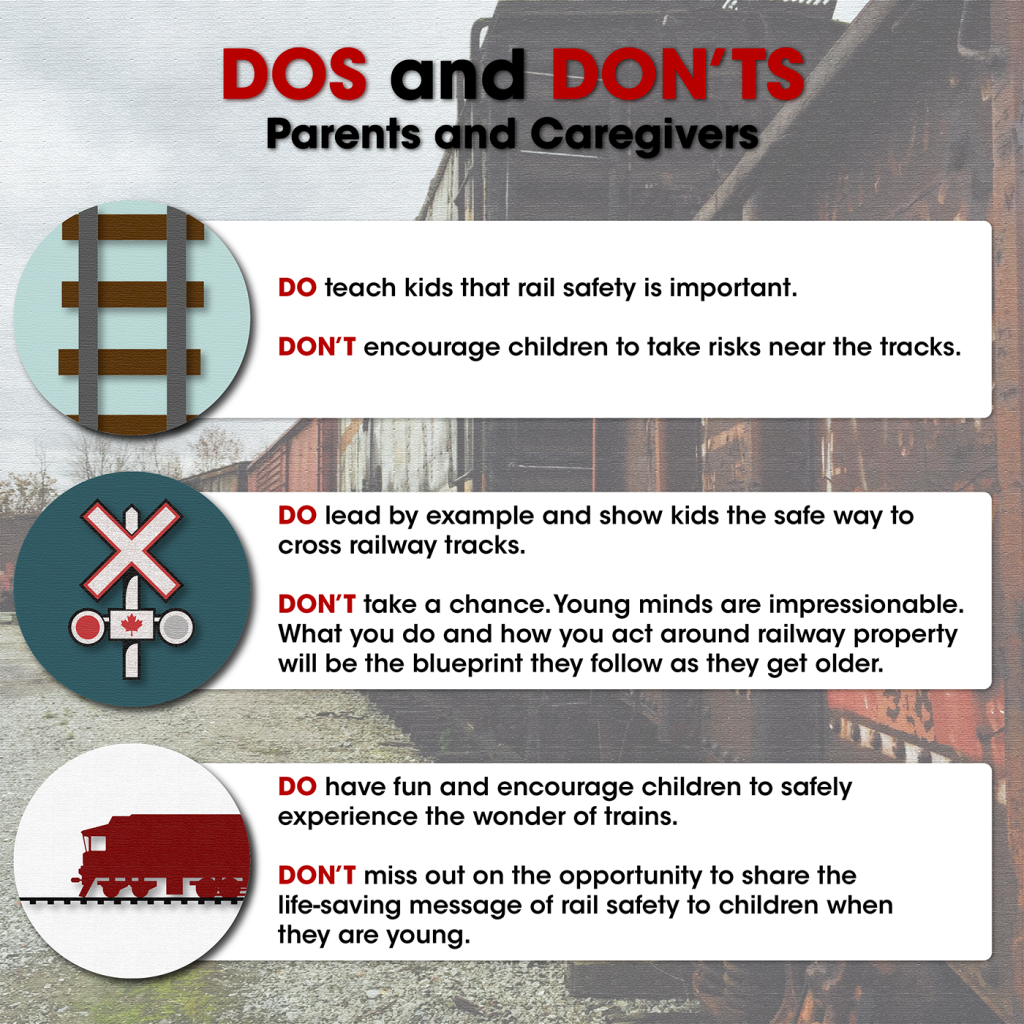 Rail safety for parents and children