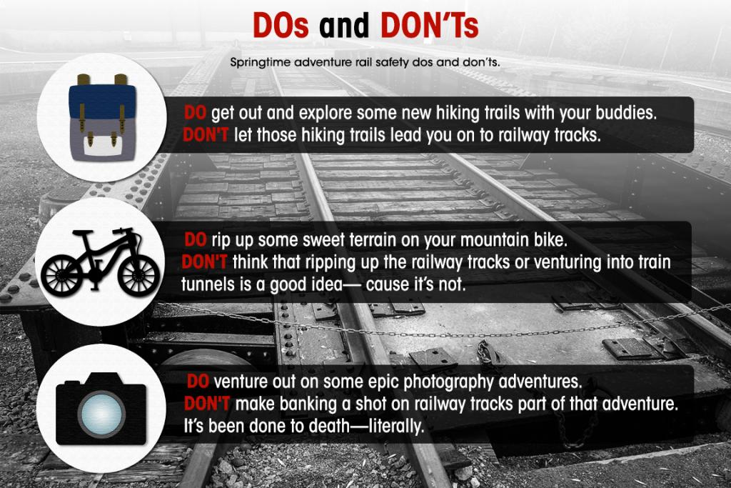 Springtime Rail Safety DOs and DON'Ts