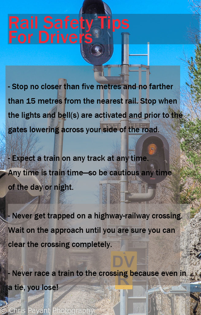 Rail safety tips for drivers
