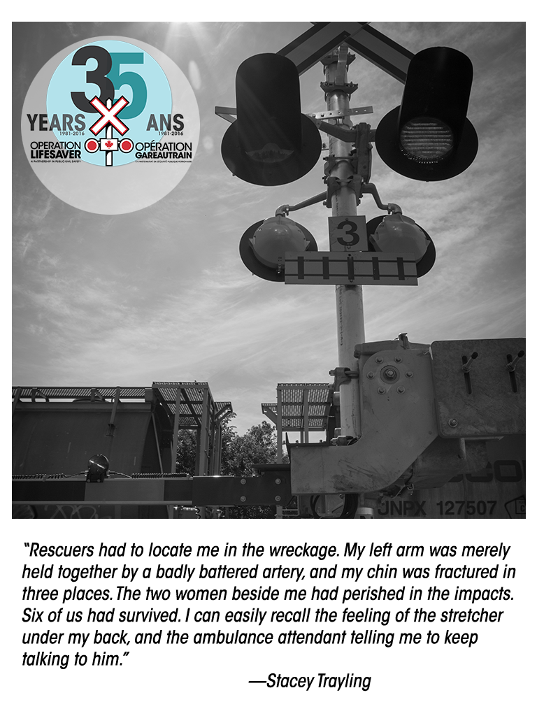 Rail safety survivor story Stacey Trayling