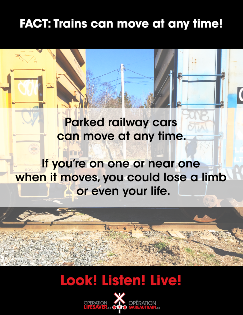 Deadly Train Fact #5: Climbing on a train could cost you everything