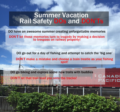 Rail safety summer dos and don'ts