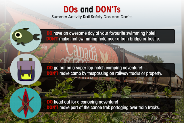 Summer activities rail safety dos and don'ts