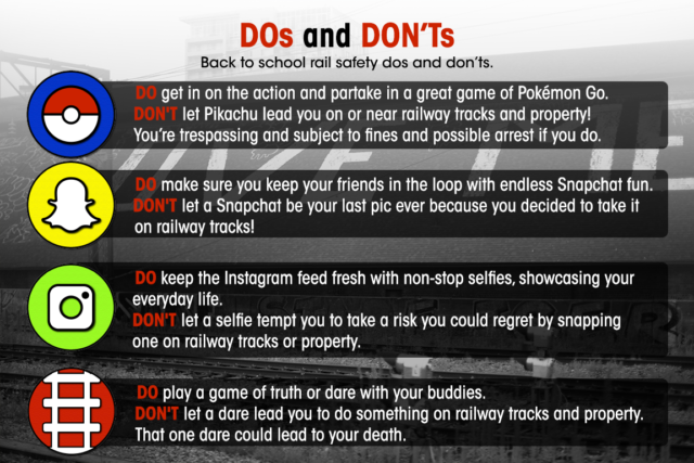Back to school rail safety dos and don'ts