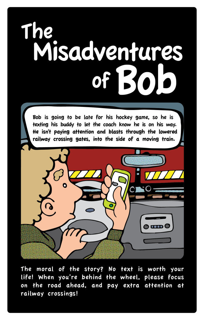 Bob texting and driving kills