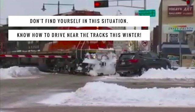 Know how to drive near railway tracks in winter