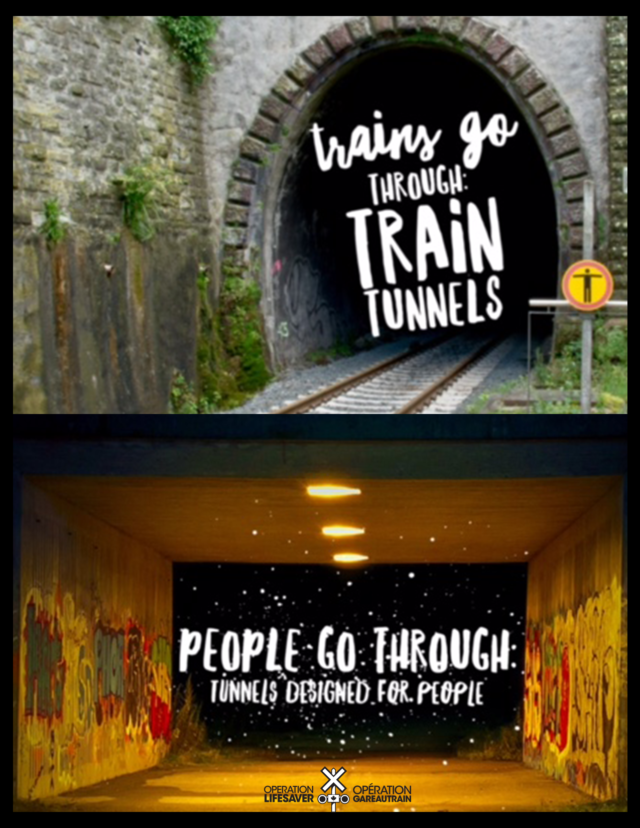 Train tunnels are for trains