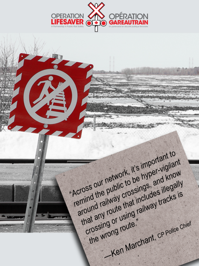 Rail safety warning from CP Police Chief