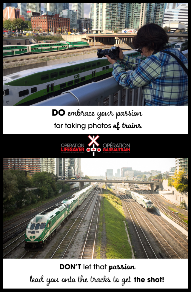 DOs and DON'Ts of railfanning near the tracks tip #1