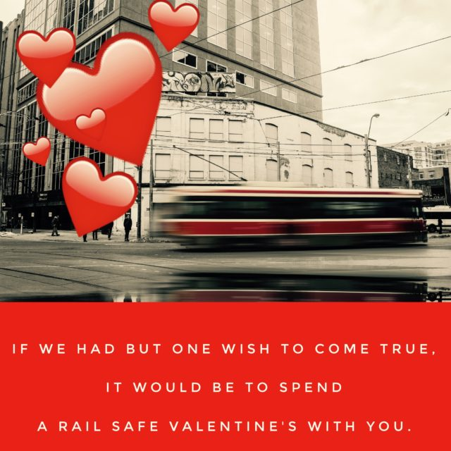Rail safe Valentine's Day